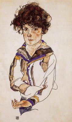 Egon Schiele - Young Boy - 1918