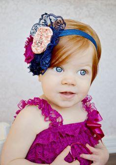 Items similar to Flower headband on Etsy Kids Headbands, Headband Baby, Homemade Hair Accessories, My Bebe, Head Bands, Girls Bows, Hair Ornaments, Baby Bows, Ribbon Bows