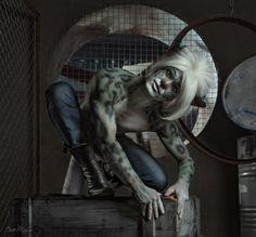 Bodyart and make-up by Bast Miriam Cat Makeup, Body Art, Lion Sculpture, Make Up, Cosplay, Statue, Cats, Snow, Gatos