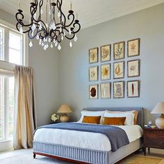 Brampton Bed by Dmitriy&co Interior Design Photos, Interior Design, Farrow And Ball Lamp Room Grey, Home, Interior, Bedroom Inspirations, Bedroom Design, Luxe Interiors, Accent Wall Bedroom