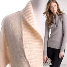HPJ. Crew Dolce Shawl Collar in Blush NWT J.Crew Dolce Shawl Collar Popover Sweater. No retail price on tag, but is new with tags attached. Sold out online. Acrylic, nylon, mohair, wool. Loose knit weave, slightly sheer. Soft and beautiful! Loose fit small. Pale blush color. J. Crew Sweaters