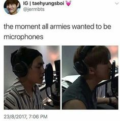 I wish to reincarnate as a microphone in my next life