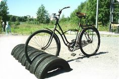 For the yard - to corral the bike mess-now that's re-cycling! hee hee hee