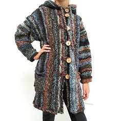 Pletený kabátek Nessi, svetrokabátek Kimono Top, Sewing, Knitting, Sweaters, Tops, Women, Products, Fashion, Moda