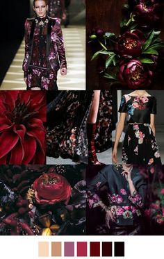 47 New Ideas Fashion Design Inspiration Pattern Color Trends Floral Fashion, Fashion Colours, Colorful Fashion, Fashion Design, Fashion Trends, Baroque Fashion, Fashion Dresses, Color 2017, Color Borgoña