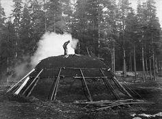 Kolmila (coal kiln), 1899, Sweden