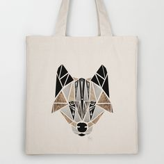 wolf Tote Bag by Manoou - $18.00