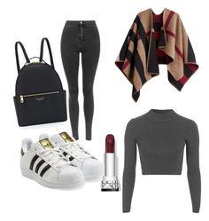 """Basics"" by chaimasugadollz on Polyvore featuring mode, Topshop, adidas Originals, Burberry et Henri Bendel"