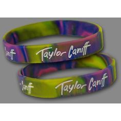 Taylor Tie-Dye Wristbands (Set Of 2) ($5) ❤ liked on Polyvore