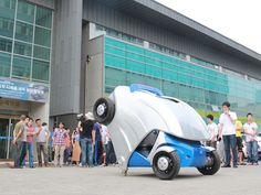 South Korea's Armadillo-T electric car folds up