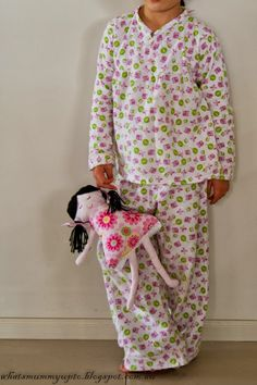 Hoot-Hoot Winter PJs -- sewing and pattern drafting tutorial