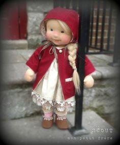 Scout- ручной работы из натуральных волокон кукла Мон Petit FRERE