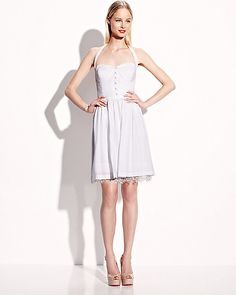 SOLID SWEETHEART NECK DRESS WHITE ready to wear dresses no classes fashion