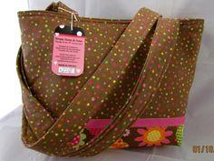 Tote Purse Handbag Brown with polka dots by simplynotesandtotes, $32.00