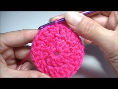 Rond haken met stokjes. / crochet round in double crochet
