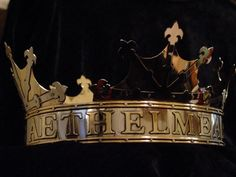 Crowns of AEthelmearc - Nickel silver and brass, cut and pierced overlay