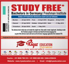 Abroad Education in Freshman Institute,Germany. Students who wish to study in Germany get in touch with Riya Education.    #bachelor #university  #freshmaninstitute #free #consultants #europe #business #foreign #cochin #kochi #kerala #india