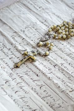 Antique French Child's Rosary, Celluloid, France by edithandevelyn on Etsy