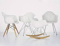 Our latest competition offers readers the chance to win an RAR rocking armchair designed by Charles and Ray Eames and produced by Vitra White Eames Chair, Eames Dsw Chair, Eames Rocking Chair, Rocking Chair Nursery, Charles Eames, Plastic Chair Design, Plastic Chairs, Vitra Design, Design Bestseller