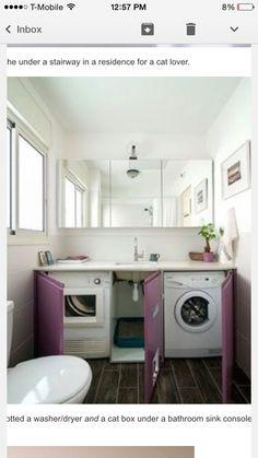 Washer Dryer Under The Bathroom Counter Shitty Little