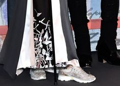 Caroline at the Bal de la Rose in Chanel and sneakers