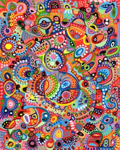 Multi Color Abstract Patterns | Thaneeya McArdle New Work: September 2005