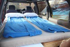 Camping with comfort. Sleep well! Van Bed My tiny house My DIY VAN CONVERSION!!!