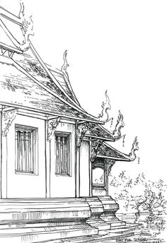 Thailand and Cambodia sketches on Behance