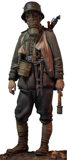 LAST CAVALRY LLC - Andrea Miniatures - Stormtrooper. 1917, $92.00…