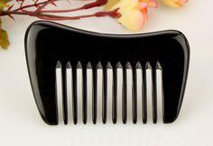empty person mini Natural genuine black buff horn comb massage Scrapping H10