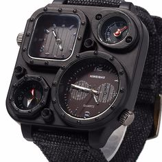 Cheap masculino, Buy Quality masculinos relogios directly from China masculino watch Suppliers: SHIWEIBAO Watches Men Big Dial Dual-Movement Sport Quartz Watch Men Military Compass Canvas Wristwatches Relogio Masculino Cool Watches, Watches For Men, Rolex, Fashion Casual, Mens Fashion, Style Fashion, Fossil, Android Watch, Hand Watch