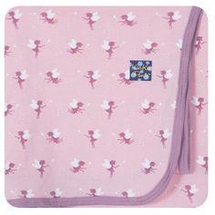 Kickee Pants Girls Newborn Swaddling Blanket, Lotus Baby Fairy