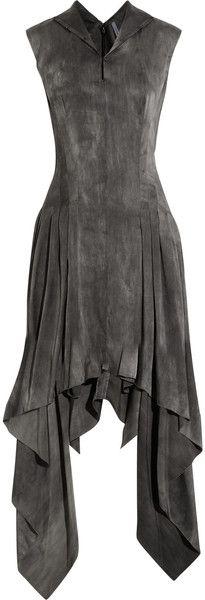 Todd Lynn Gray Shaika Stretch Silkblend Dress
