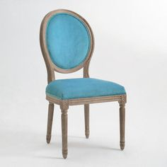 A possibility for a dining room chair? Blue Linen Paige Round Back Dining Chairs, Set of 2 Traditional Dining Chairs, French Dining Chairs, Round Back Dining Chairs, Wicker Dining Chairs, Round Chair, Old Chairs, Dining Chair Set, Upholstered Chairs, Black Chairs