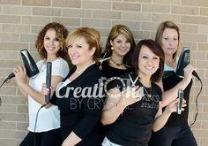 Hair salon photo shoot