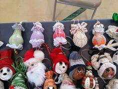 Hand painted light bulb ornaments