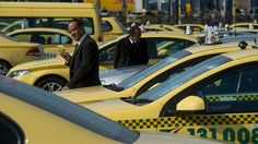 I like to pay homage to the Yellow taxis of the world ! https://www.linkedin.com/pulse/finallyhere-jan-ovland - enjoy ! - janovland@gmail.com Biding their time: On a busy morning, it can take 30 minutes before a row is allowed to move.