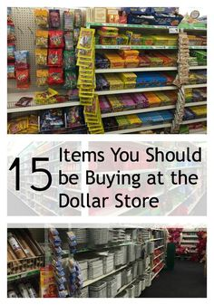 Dollar Store Items  http://www.debtfreespending.com/15-things-buy-dollar-store/#_a5y_p=2673447  #frugal #frugalliving