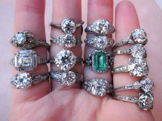 Vintage and antique engagement rings from Erstwhile