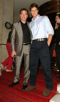 John Barrowman & Scott Gill - See more: http://crazycatt71.tumblr.com/post/2714446780/scott-looks-like-a-giant-in-this-pic-love-it