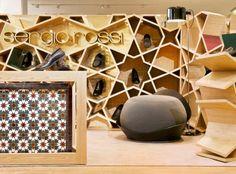 Un magasin pour la marque de chaussure pour homme Sergio Rossi par le designer marocain Younes Duret