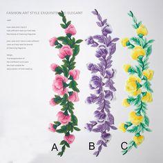 Gestickte Aufnäher gestickte Blumen Nähen-auf Patches für