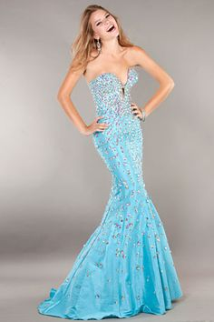 Jovani Prom 944 Strapless taffeta mermaid gown features large beadwork and plunging neckline. For free consultation about sizing and the right Jovani style Prom Dress 2013, Prom Dresses Jovani, Prom Dresses For Teens, Prom Dresses Blue, Pageant Dresses, Cute Dresses, Beautiful Dresses, Dresses 2013, Beaded Dresses