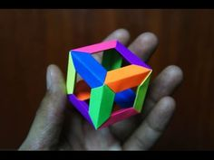 Modular Origami - How to make Modular 3D 6-point Star Origami - YouTube