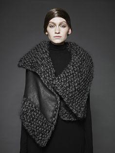 knitGrandeur Sunghee Bang F/W 2012  (Leder & Strick... grandios!)