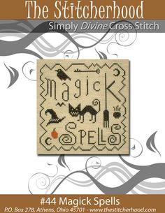 free primitive sampler patterns | ... Pattern, Halloween, Cat, Witch, Cross Stitch, Design, Pattern