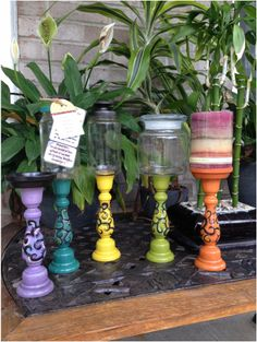 Jar Candlesticks by Blocks From The Heart