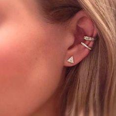 Anita Ko rose gold diamond earcuffs