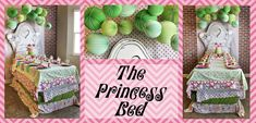 """Princess and the Pea  Hap-PEA Birthday! Tablescape """"bed""""!!! Don't you just ♥ it?!"""
