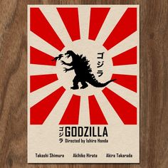 GODZILLA 16x12 Movie Posters Set of 3 by MonsterGallery on Etsy